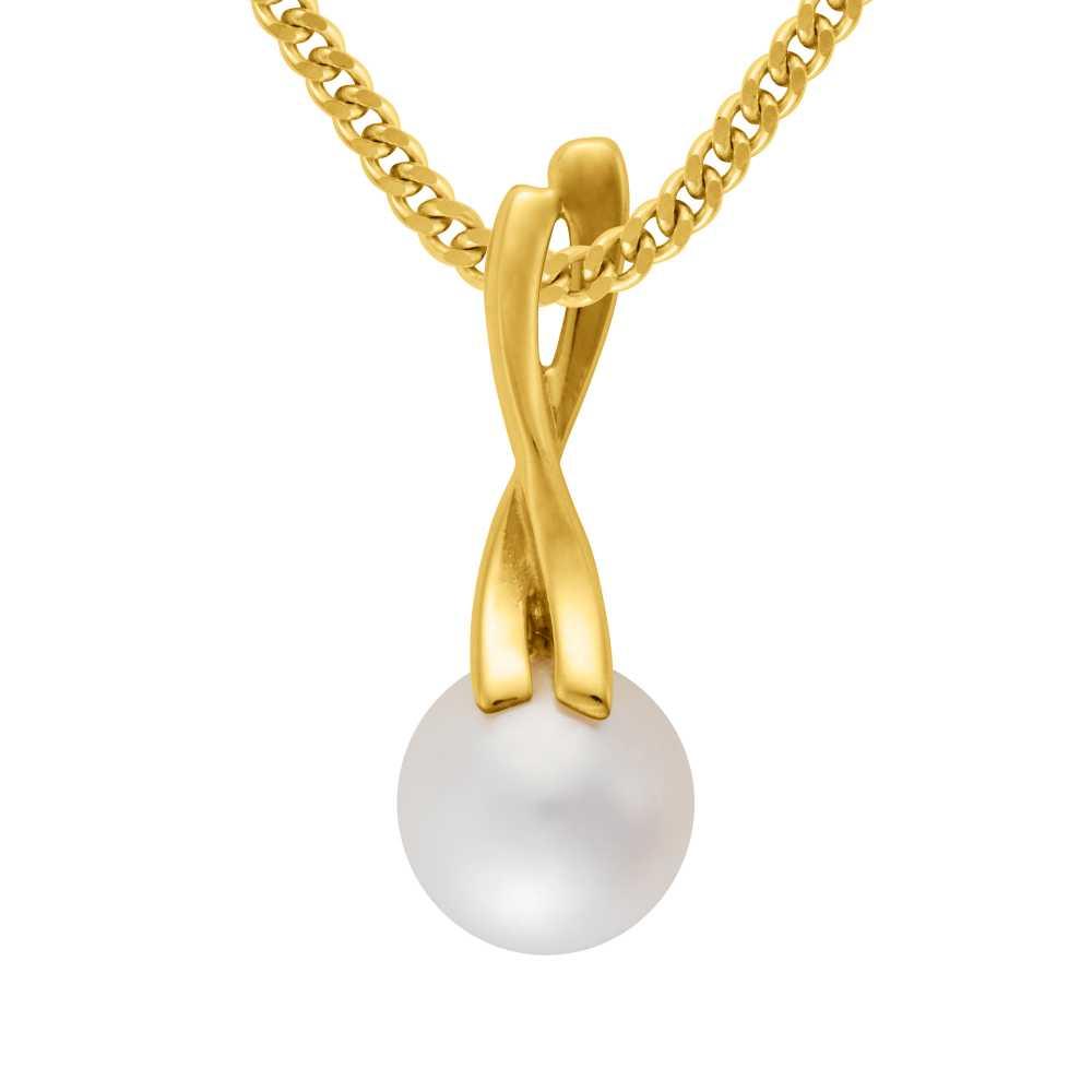 Gelbgold Anhänger Perle