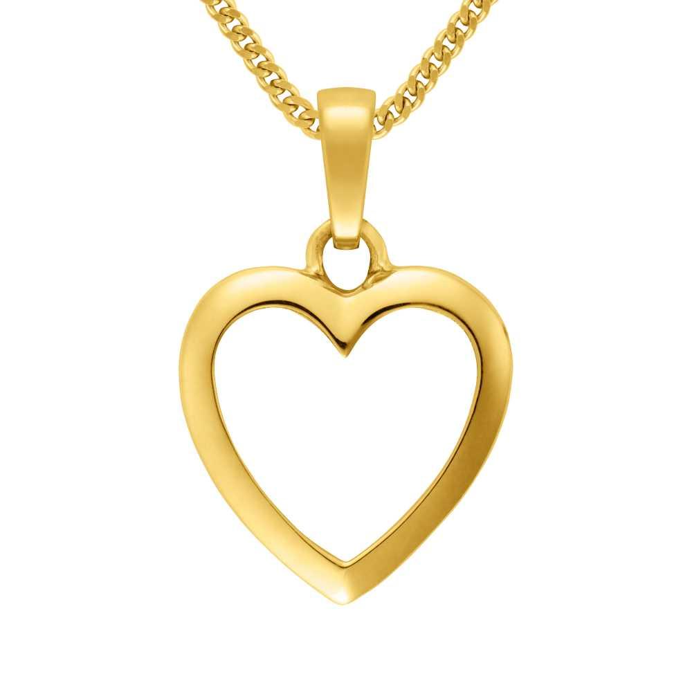 Gelbgold Herz Anhänger