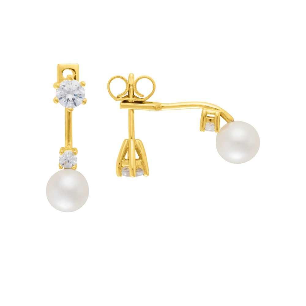 Gelbgold Ohrstecker Perle