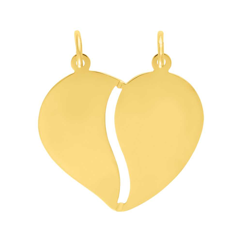 Herzanhänger Gelbgold