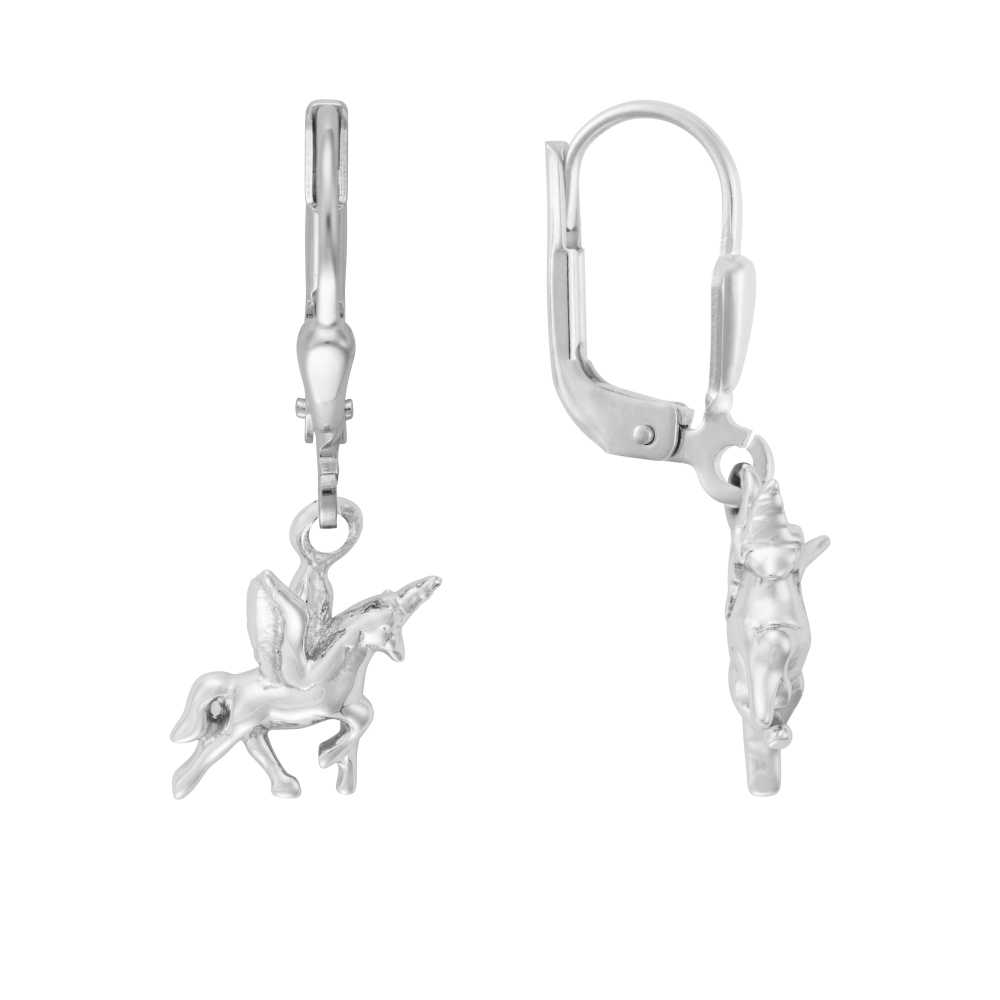 Silber Einhorn Ohrhänger