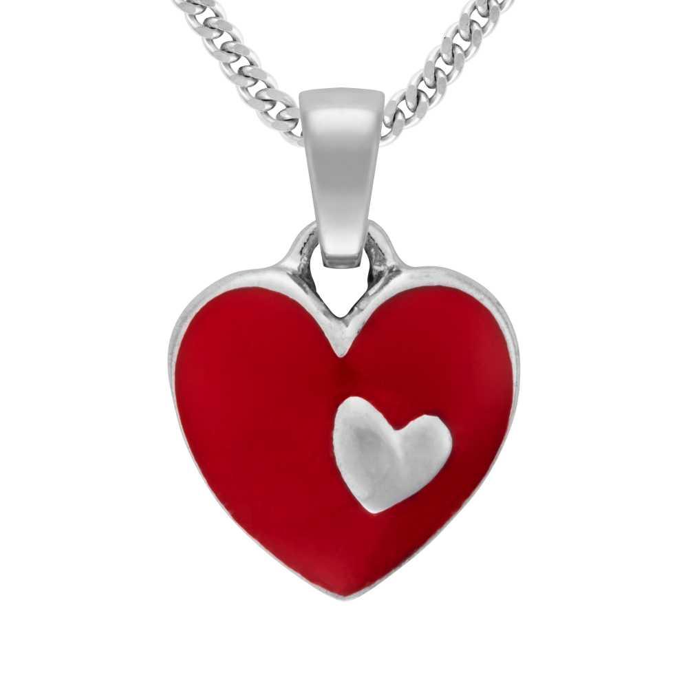 Silber Herz Anhänger