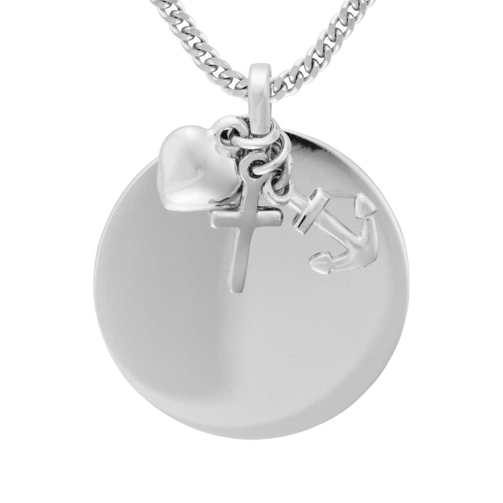 Silber Liebe Glaube Hoffnung Anhänger
