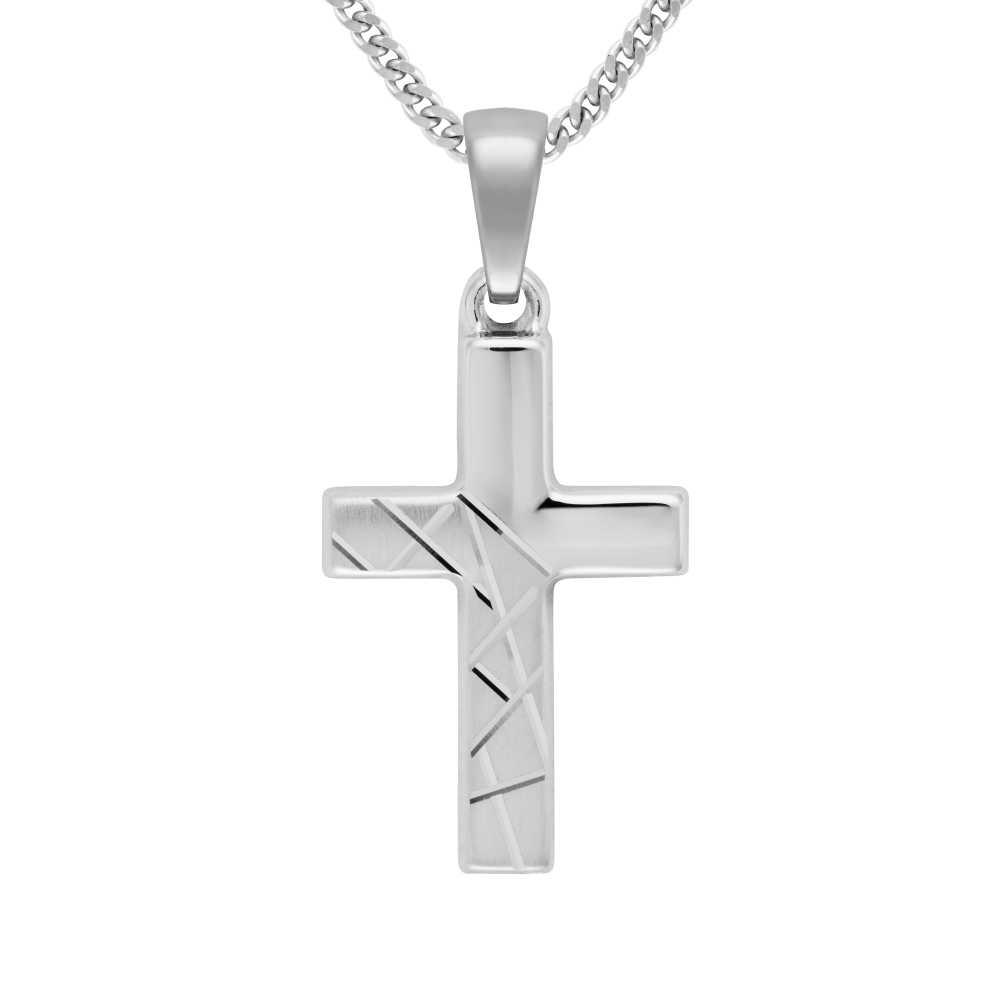 Weißgold Kreuz