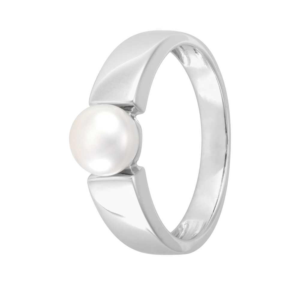 Weißgold Schmuckring Perle