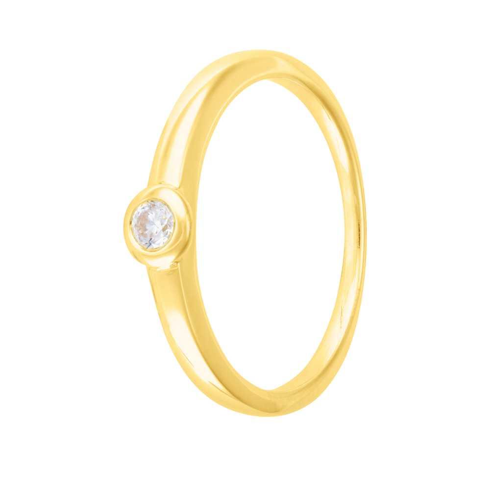 Weißgold Verlobungsring Zirkonia Stein