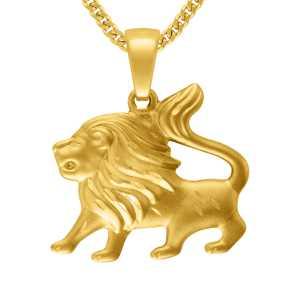 Gelbgold Löwe Anhänger